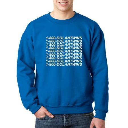 e2fbcd235 New Way - 761 - Crewneck 1-800-DOLANTWINS Dolan Twins Hotline Bling  Sweatshirt Small Royal Blue - Walmart.com