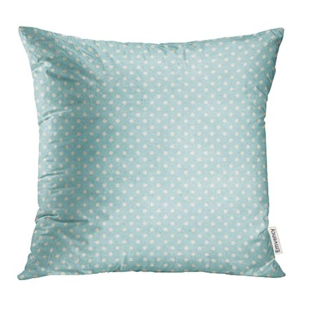 BSDHOME Blue Vintage Polka Dots Patten on Basic Shapes Collection Pink Spot Retro Round Pillowcase Cushion Cover 16x16 inch - image 1 de 1