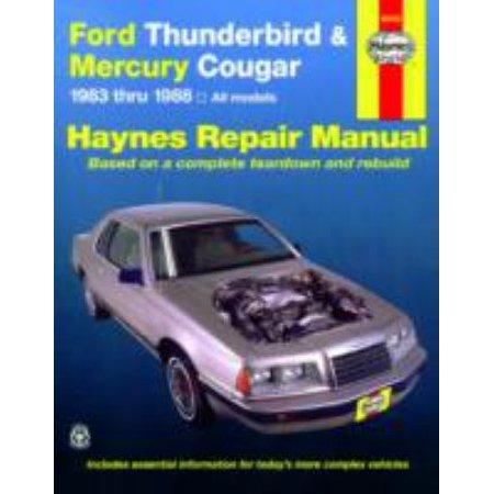 Ford Thunderbird and Mercury Cougar 1983 Thru 1988, Automobil Repari Manual
