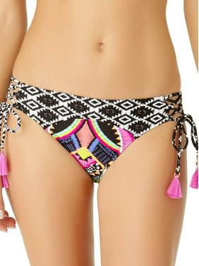 6639bedeb78ed Product Image Juniors' Tribal Side Strappy Swim Bikini Bottom W/Tassels