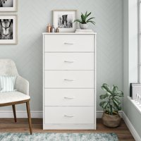 Mainstays Classic 5 Drawer Dresser, Multiple Colors