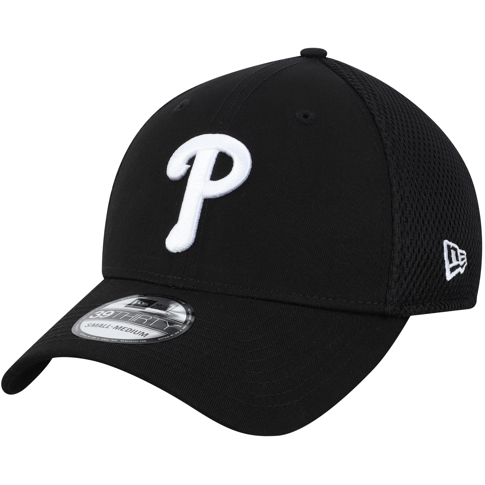 Philadelphia Phillies New Era Team Neo 39THIRTY Unstructured Flex Hat - Black