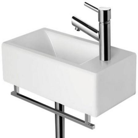 Wall Mount Bath Sink (ALFI brand AB108 19-3/4