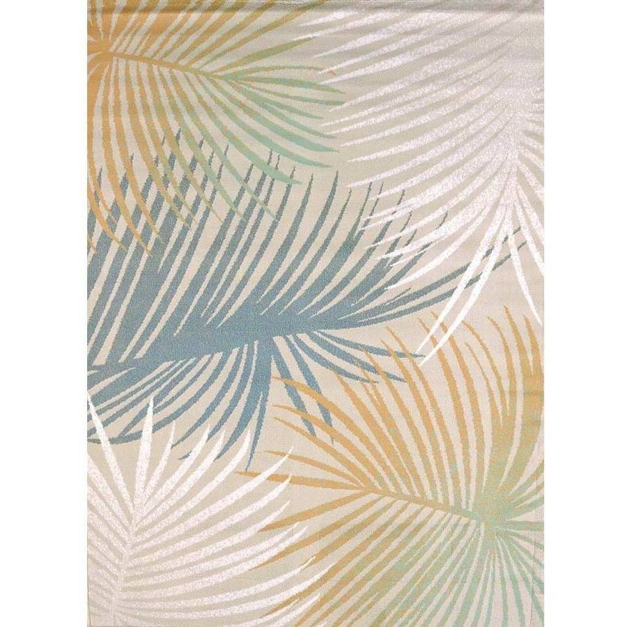 United Weavers Seaside Palm Branch Blue Woven Olefin Area Rug