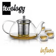 Teaology Infuso Borosilicate Infusion Teapot and Glass Set