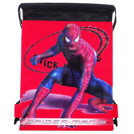 Spiderman Character Authentic Licensed Red Drawstring Bag (Spider Man Bag)