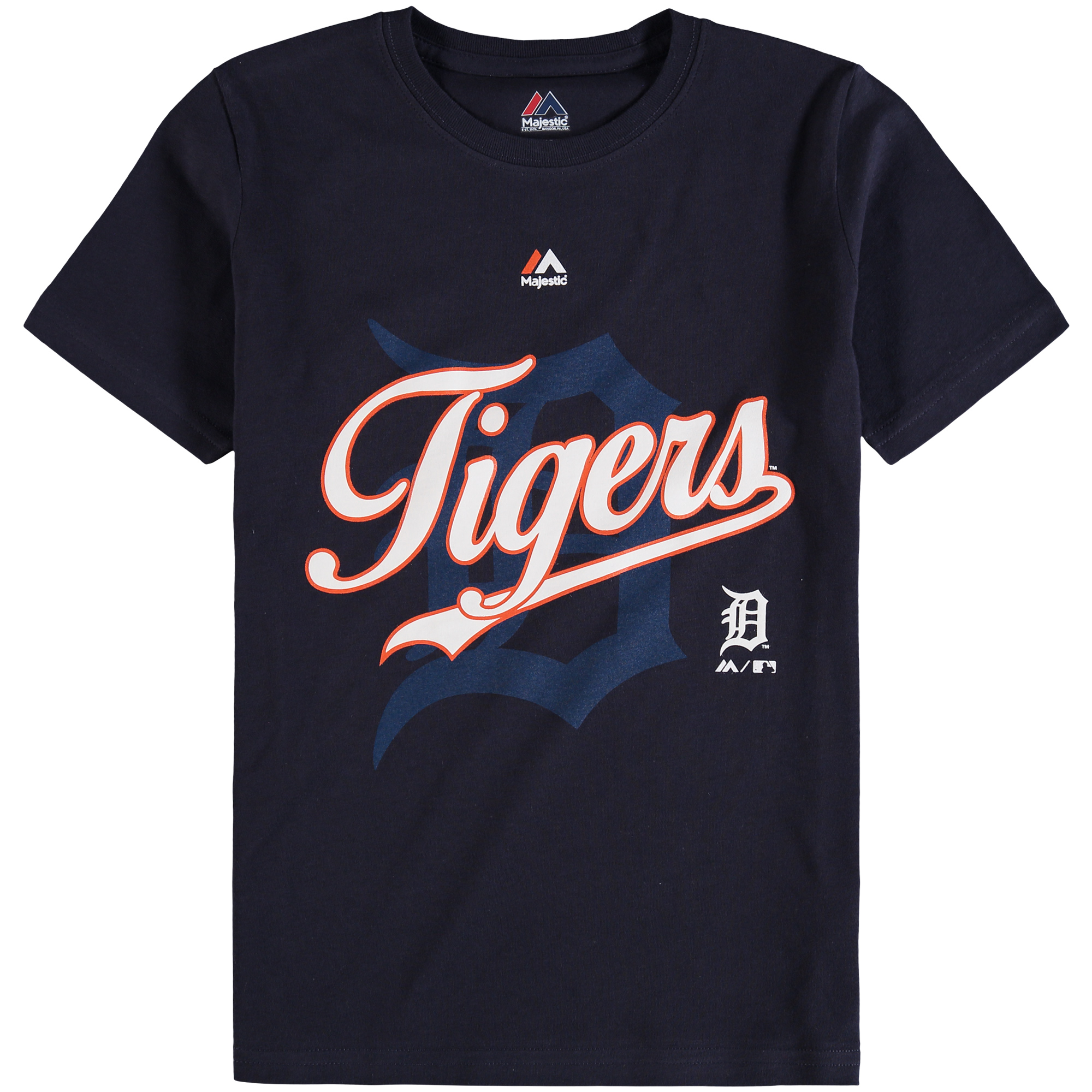 Detroit Tigers Majestic Youth At the Game T-Shirt - Navy