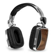 Victrola Wood and Chrome Rechargeable Bluetooth Headphones