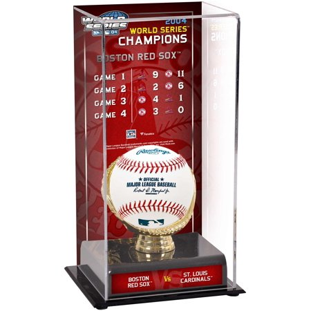 2004 World Series Champion Picture (Boston Red Sox 2004 World Series Champions Sublimated Display Case with Series Listing)