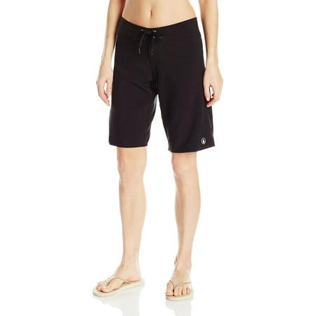 03df43f649ed Volcom - Volcom NEW Deep Black Size 7 Junior's Simply Solid Board Surf  Shorts - Walmart.com