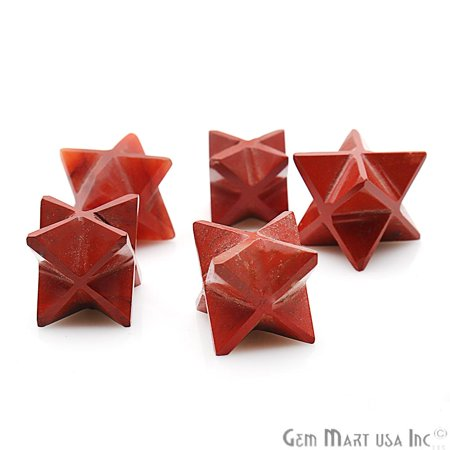 Red Jasper Merkaba Star Octahedron Metaphysical Crystal Reiki Healing - Jasper Star