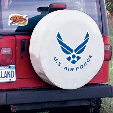 United States Air Force Tire Cover on White Vinyl Size: Z - 33 x 12.5