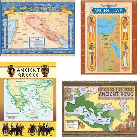 Bulletin Guide - Teacher Created Resources Ancient Civilizations Charts Bulletin Board Set with Teacher Guide, 18