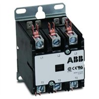 ABB, DP60C3P-1, 3 Pole, 60 Amps, 120VAC Coil, Definite Purpose Contactor