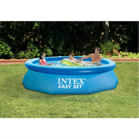 intex 10 39 x 30 easy set above ground swimming pool with. Black Bedroom Furniture Sets. Home Design Ideas
