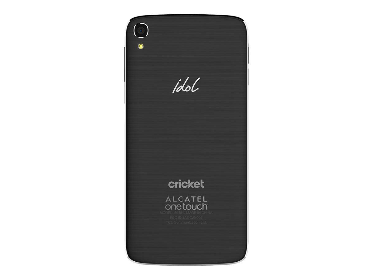 cricket wireless alcatel onetouch idol 3 16gb prepaid smartphone, dark gray