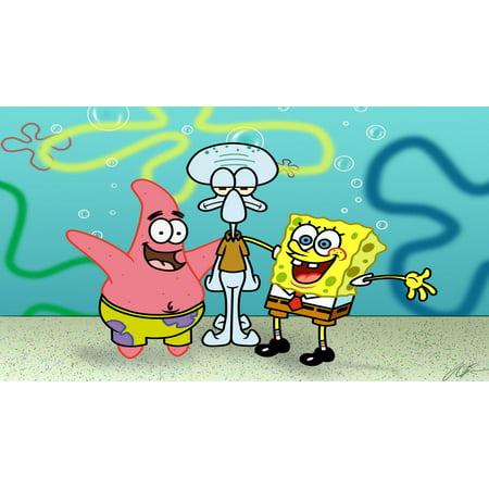 Sponge Bob Square Pants 1/2 Size  Sheet Cake Topper Edible Frosting  Image - Spongebob Cake Toppers