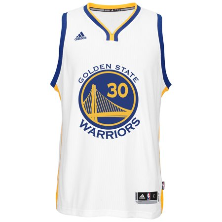 Golden State Warriors Adidas NBA Stephen Curry #30 Home Swingman Jersey (White) by