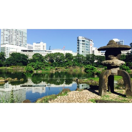 LAMINATED POSTER Tokyo Japanese Building Garden City Asia Poster ...