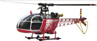 Nine Eagles NE180142 Lama CP Tx-R Helicopter, Red/Yellow Multi-Colored