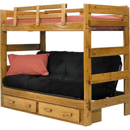 Harriet Bee Oralia Futon Bunk Bed with Storage