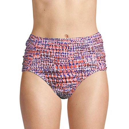 210d02e745 Tommy Bahama - Coral Crocodile High-Waisted Bikini Bottom - Walmart.com