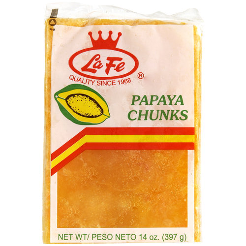 La Fe Papaya Chunks, 14 oz