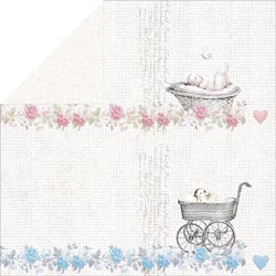 Bulk Buy: FabScraps Scapbooking (25-Pack) Royal Baby Double Sided Cardstock 12'X12' Swirl C70008