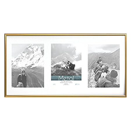 Timeless Expressions Metal Collage Wall Frame, 10 x 20', Gold