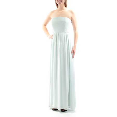 XSCAPE Womens Green Ruched Sleeveless Strapless Maxi Empire Waist Formal Dress  Size: 10