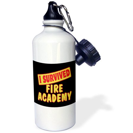 3Drose I Survived Fire Academy Survial Pride And Humor Design  Sports Water Bottle  21Oz