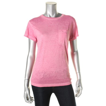 Bill Blass Womens Heathered Embroidered Signature T-Shirt Pink XS Bill Blass Clothing