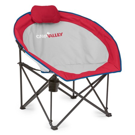 Campvalley Oversized Round Camp Chair Red Walmart Com