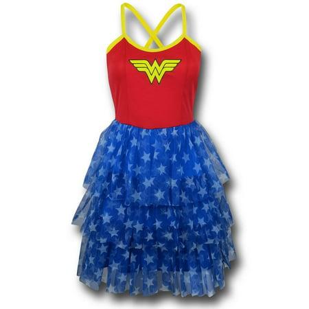 Wonder Woman Women's Mini Skirt Dress-Fitted Large Wonder Woman Mini