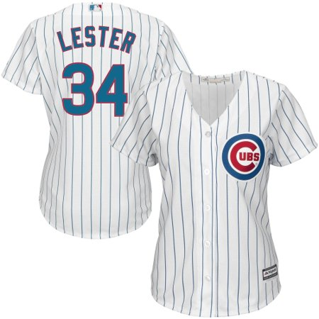 online store 3a495 15bac Jon Lester Chicago Cubs Majestic Women's Cool Base Player Jersey - White