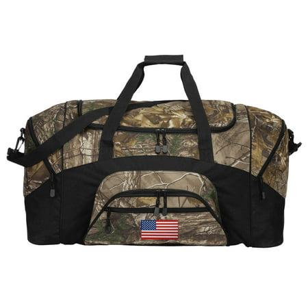 f04506db7 Camo US Flag Duffle Bag Or RealTree Camo American Flag Gym Bag - Walmart.com