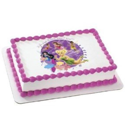 1/4 Sheet Disney Fairies Edible Frosting Cake Topper* (Tinkerbell Cake Toppers)
