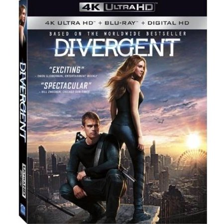Divergent  4K Ultrahd   Blu Ray   Digital Hd   With Instawatch