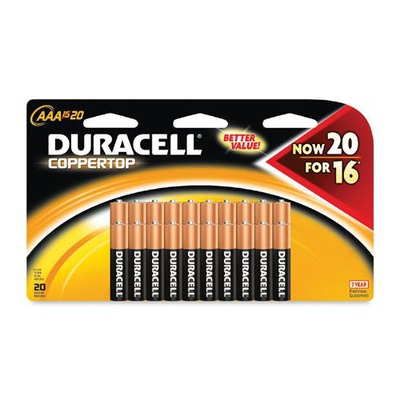 Duracell CopperTop General Purpose Battery DURMN2400B20