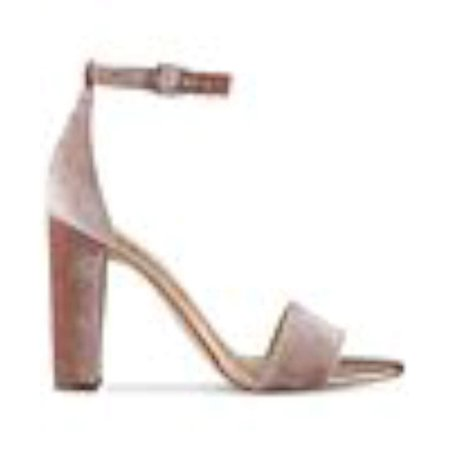 Ivanka Trump Womens Emalyn2 Fabric Open Toe Special Occasion Ankle Strap Sand