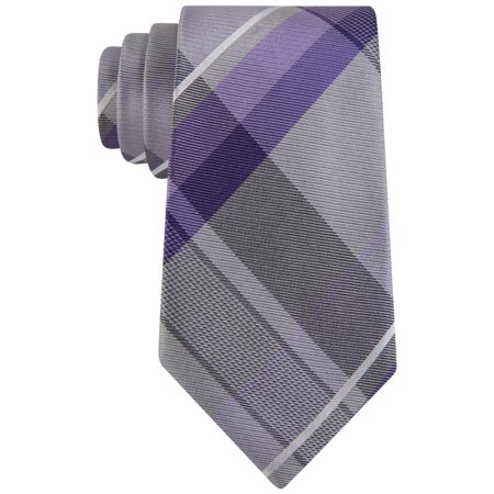 Geoffrey Beene Mens Far and Wide Necktie, grey, One Size Wide Polyester Necktie