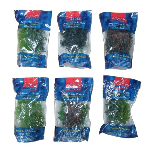 Aqua Culture Aquarium Plant Value Pack, 4 Packs of 2 Plants