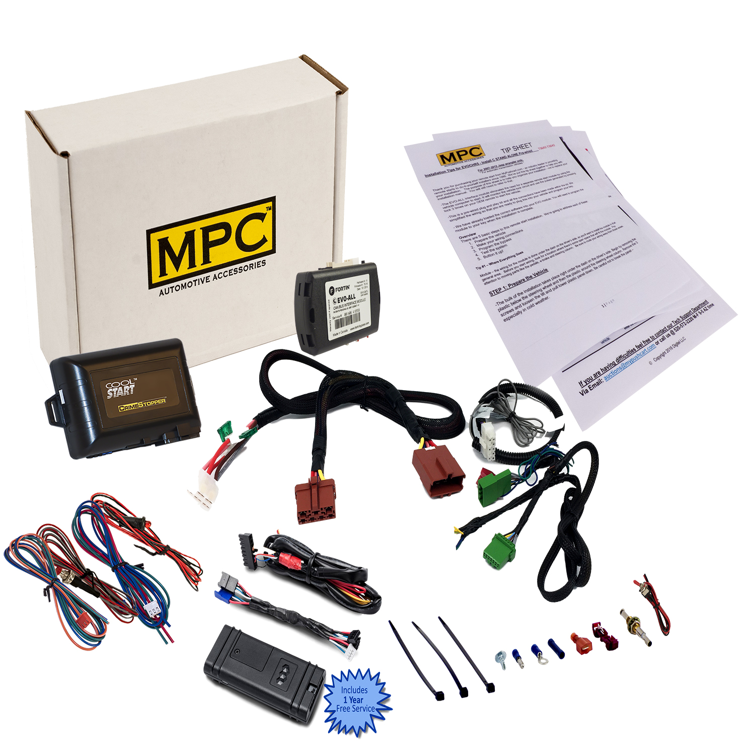 Smartphone/OEM Remote Activated Remote Start Kit For 2007