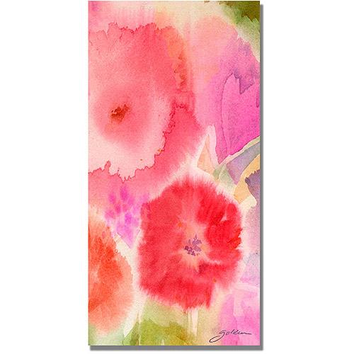 "Trademark Art ""Woodflowers III"" Canvas Wall Art by Shelia Golden"