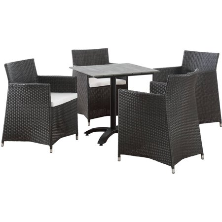 Modway Junction 5-Piece Outdoor Patio Dining Set, Multiple Colors