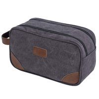 430f824230f7 Product Image Portable Travel Toiletry Bag Cosmetic Organizer Canvas PU  Leather Storage Bag Bathroom Shaving Dopp Kit