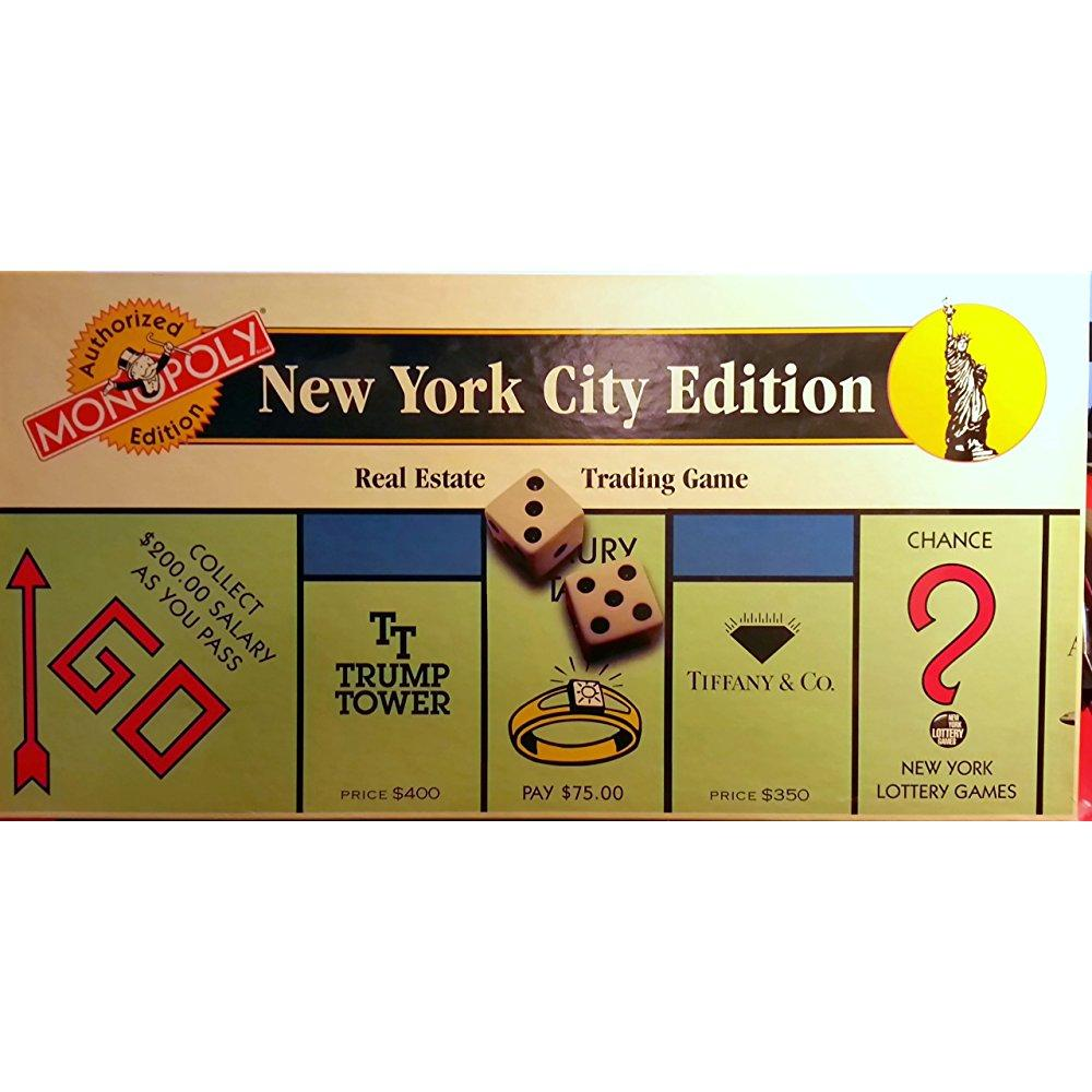 1995 New York City Monopoly Game (Authorized Edition) by