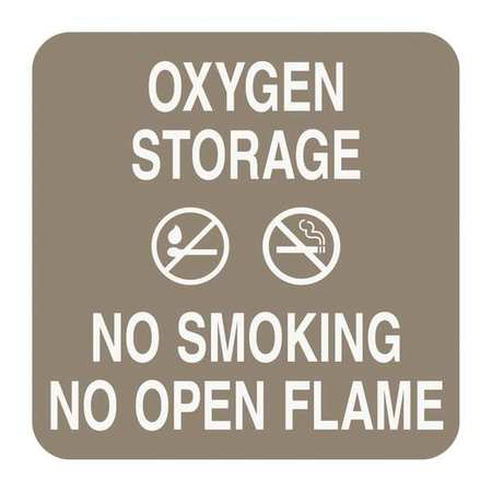 "No Smoking Sign, Sign Comply, 42297-18 TAN, 5-1/2""Hx5-1/2""W"