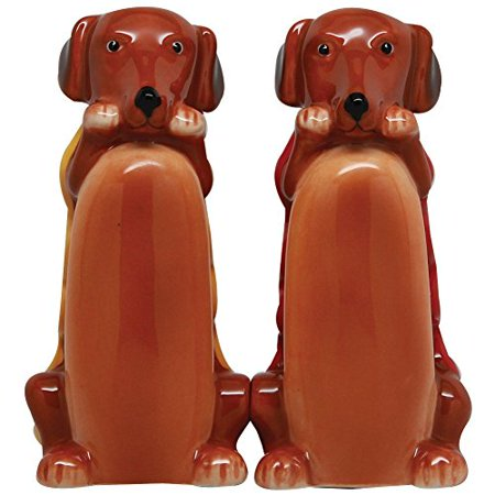 Cute Hot Dogs Handpainted Ceramic Salt And Pepper Shaker Set Cute Salt And Pepper Shakers
