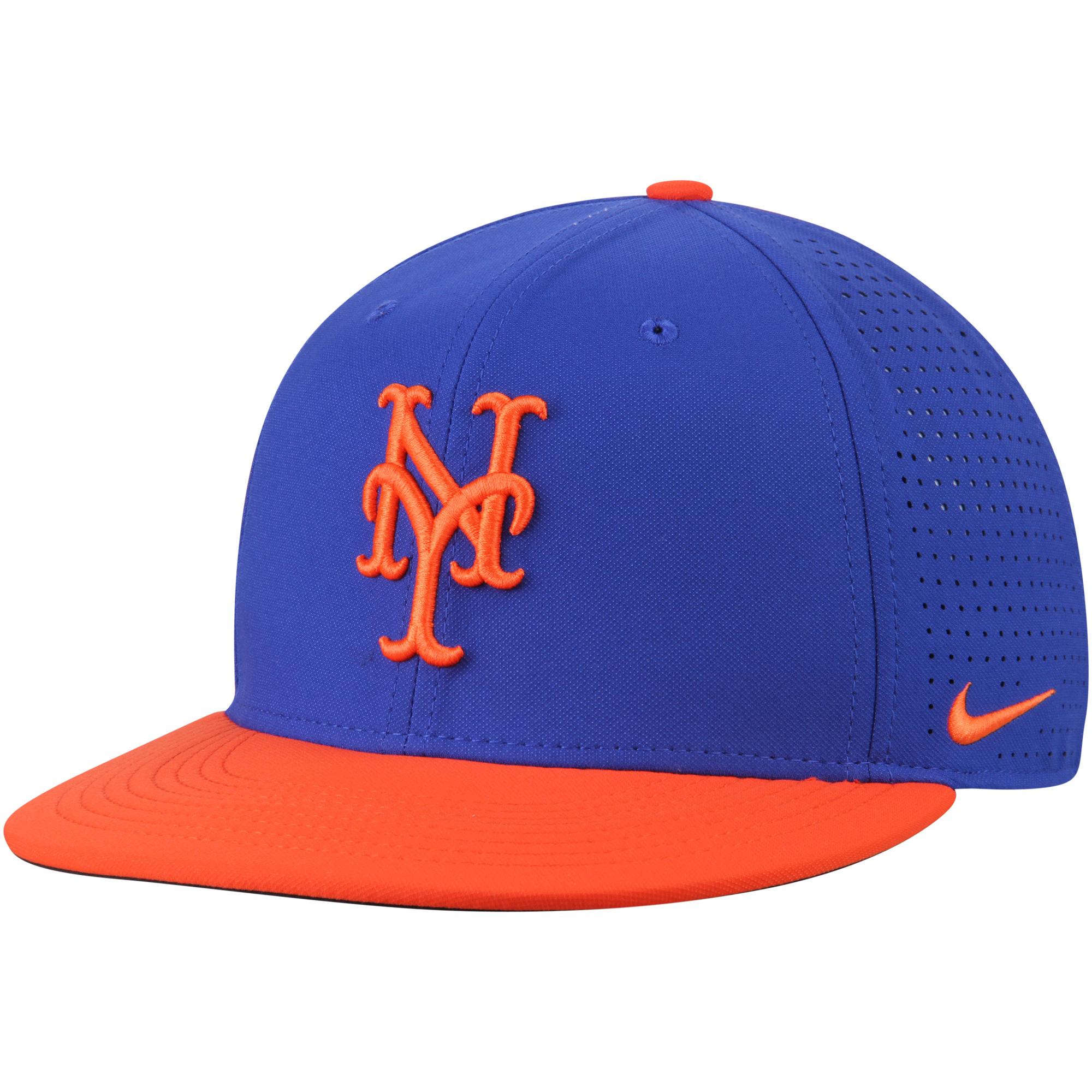 New York Mets Nike Aero True Adjustable Hat - Royal/Orange - OSFA